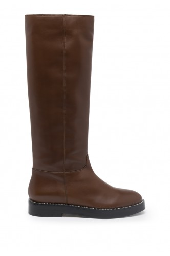 KNEE HIGH BOOTS WITH STUDS MARELLA BROWN