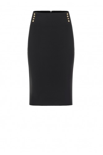 PENCIL SKIRT WITH GOLDEN STUDS ACCESS BLACK