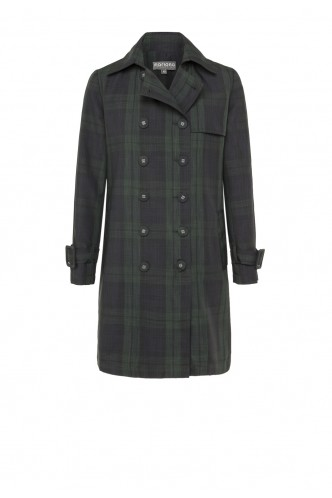 CROSSOVER TRENCH COAT MARIONA GREEN