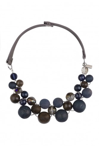 WOOD BEATS COLLAR PESERICO NAVY