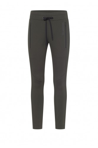 JOGGING TROUSERS WITH ZIPPERS CAMBIO DARK KHAKI