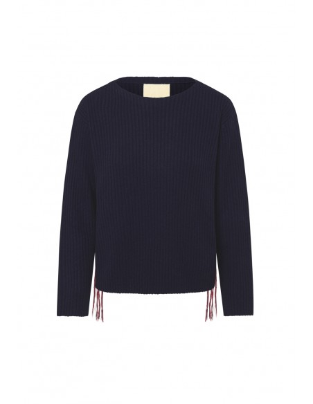 MAISON_HAUSSMAANN_RIBBED_SWEATER_WITH_SIDEBANDS_MARIONA_FASHION_CLOTHING_WOMAN_SHOP_ONLINE_MHW19-MDC105