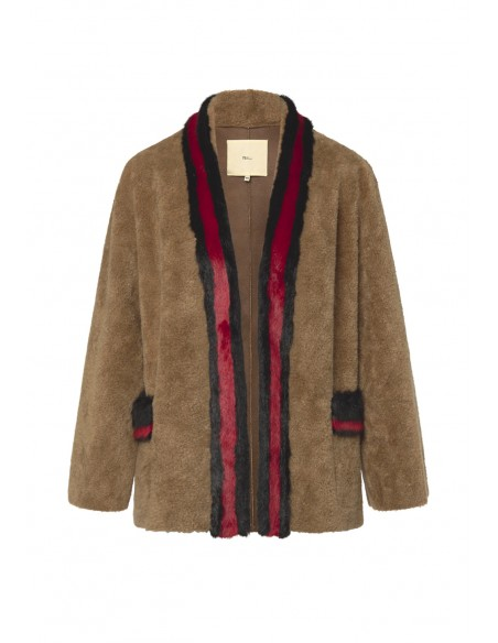 MAISON_HAUSSMAANN_FUR_SHORT_COAT_WITH_CONTRASTED_STRIPED_EDGES_MARIONA_FASHION_CLOTHING_WOMAN_SHOP_ONLINE_MHW19-MPU057