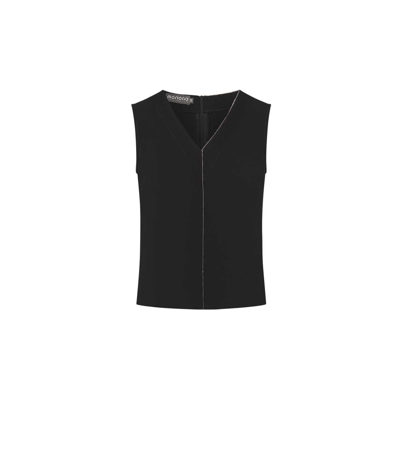 MARIONA_V_NECK_TOP_WITH_TULLE_AND_METALLIC_DETAIL_MARIONA_FASHION_CLOTHING_WOMAN_SHOP_ONLINE_5118H