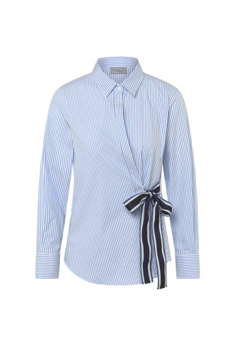 MARELLA_STRAIGHT_FIT_SHIRT_WITH_BOWKNOT_MARIONA_FASHION_CLOTHING_WOMAN_SHOP_ONLINE_GATTINI