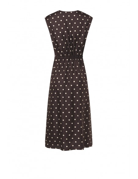 SEVENTY_POLKA_DOT_PRINTES_DRESS_WITH_GATHERING_AT_WAIST_MARIONA_FASHION_CLOTHING_WOMAN_SHOP_ONLINE_AB1026