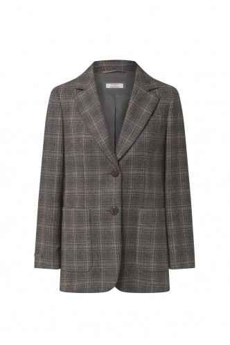 PESERICO_STRAIGHT_FIT_CHECKED_BLAZER_MARIONA_FASHION_CLOTHING_WOMAN_SHOP_ONLINE_S01852