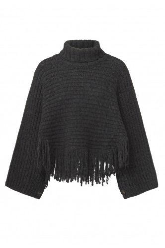 PESERICO_RIBBING_PONCHO_WITH_FRINGES_MARIONA_FASHION_CLOTHING_WOMAN_SHOP_ONLINE_S31325F03
