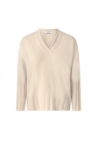CAPPELLINI_V_NECK_SWEATER_RIBBED_HEMS_MARIONA_FASHION_CLOTHING_WOMAN_SHOP_ONLINE_M99325F07