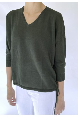 CAPPELLINI_OVERSIZED_V_NECK_SWEATER_WITH_GATHERING_AT_HEMS_MARIONA_FASHION_CLOTHING_WOMAN_SHOP_ONLINE_M99050F12