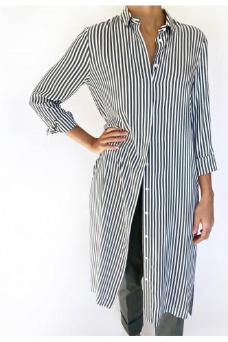PESERICO_LONG_STRIPED_SHIRT_MARIONA_FASHION_CLOTHING_WOMAN_SHOP_ONLINE_S02079A