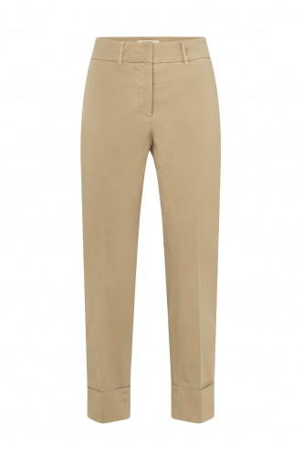 COTTON TROUSERS WITH TURNED...