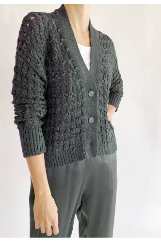 FABIANA_FILIPPI_V_NECK_CARDIGAN_WITH_OPEN_WORK_MARIONA_FASHION_CLOTHING_WOMAN_SHOP_ONLINE_MAD271W086