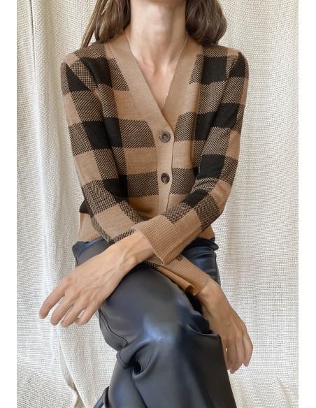 MARELLA_V_NECK_CARDIGAN_IN_BICOLOR_CHECK_MARIONA_FASHION_CLOTHING_WOMAN_SHOP_ONLINE_33461217200