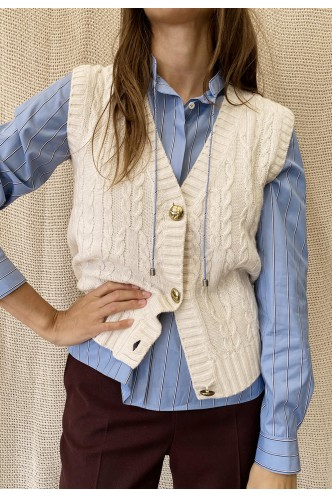 MARELLA_CABLE_KNITTED_VEST_WITH_GOLD_BUTTONS_MARIONA_FASHION_CLOTHING_WOMAN_SHOP_ONLINE_33560117200