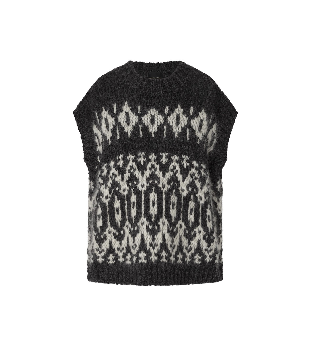 ROBERTO_COLLINA_VEST_WITH_JACQUARD_DESIGN_MARIONA_FASHION_CLOTHING_WOMAN_SHOP_ONLINE_F42016