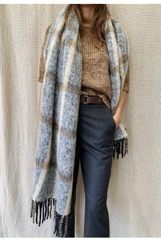PESERICO_CHECKED_SCARF_WITH_FRINGES_MARIONA_FASHION_CLOTHING_WOMAN_SHOP_ONLINE_S31369C0